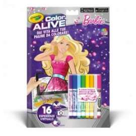 LIBRI da Colorare CRAYOLA COLOR ALIVE (Realta Aumentata) pvp.4,90 - BARBIE