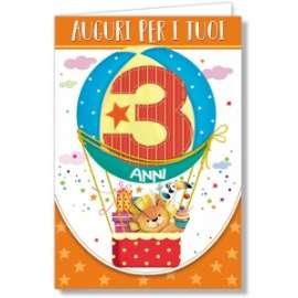 Biglietti Compleanno 3 ANNI conf.6pz