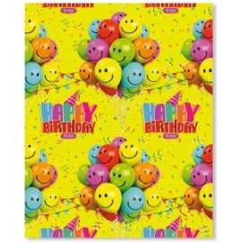 Carta Regalo 70x100cm HAPPY BIRTHDAY conf.12pz