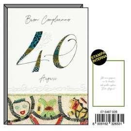 Biglietti Compleanno FANTASIA 40 conf.6pz