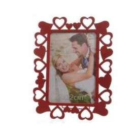 San Valentino CORNICE PORTAFOTO CUORE IN METALLO 13x16,5 cm