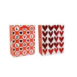 Shopper Carta 11x15x3,5 RED METAL LOVE conf.12pz