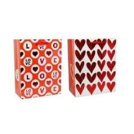 Shopper Carta 18x23x10 RED METAL LOVE conf.12pz
