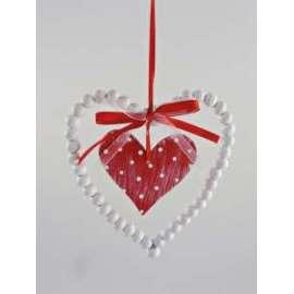 San Valentino CUORE POIS CON PERLINE h.12cm