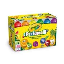 COLORI TEMPERA Crayola PROFUMELLI LAVABILI conf.6pz 59ml