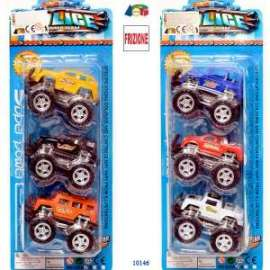Giochi JEEP MONSTER A FRIZIONE set 3pz