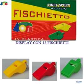 Giochi FISCHIETTO PLASTICA COLORATA