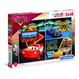 Giochi PUZZLE - 3x48 - CARS