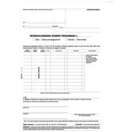 Modulo Richiesta Consegna Stampati Fiscali