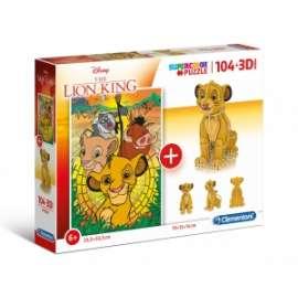 Giochi PUZZLE - 104+3D - LION KING