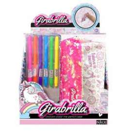 GIRABRILLA UNICORN COLOR ME PENCIL CASE