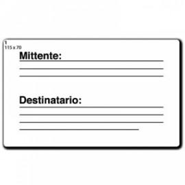 Etichette bianche permanenti in bustina