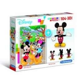 Giochi PUZZLE - 104+3D - MICKEY