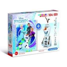 Giochi PUZZLE - 104+3D - FROZEN
