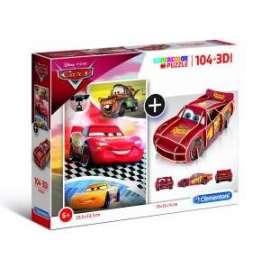 Giochi PUZZLE - 104+3D - CARS
