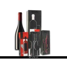 Shopper Regalo Bottiglia FANTASIA BLACK Conf.12pz