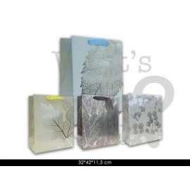 Shopper Regalo 32x42x11.5cm FANTASIA FOGLIE ORO Conf.12pz