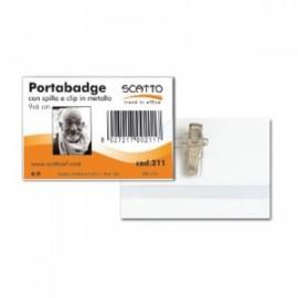 Portabadge in PVC con Spilla Metallo
