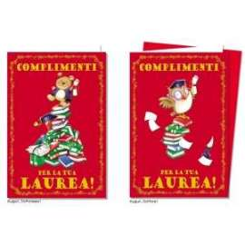 Biglietti Laurea FANTASIE ASSORTITE conf.12pz