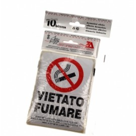 CARTELLI VIETATO FUMARE ADESIVO 10x15 *VF08* cf.da10