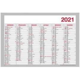 Agende 2021 - Tabella Semestrale 48x33,4 . 20-504