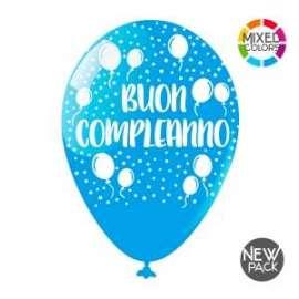 Party PALLONCINI LARGE BUON COMPLEANNO conf.10pz