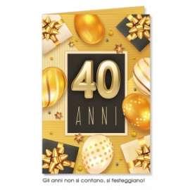 Biglietti Compleanno 40 ANNI conf.6pz