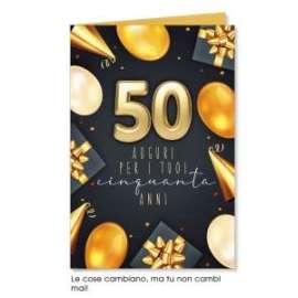 Biglietti Compleanno 50 ANNI conf.6pz