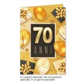 Biglietti Compleanno 70 ANNI conf.6pz