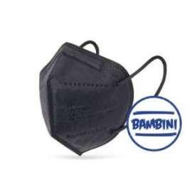 MASCHERINA FFP2 MONOUSO BIMBO - NERO