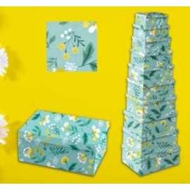 Scatole Regalo FLOWER GREEN set10pz