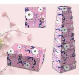 Scatole Regalo FLOWER PINK set10pz