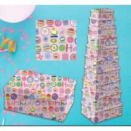 Scatole Regalo HAPPY BIRTHDAY PINK set10pz