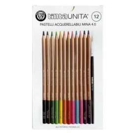 PASTELLI TintaUnita ACQUERELLABILI MINA 4.0 12colori .49730