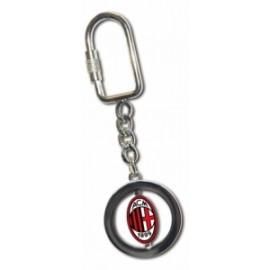 Calcio PORTACHIAVI METALLO PIASTRINA  GIREVOLE MILAN