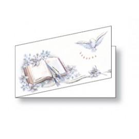Bomboniera Cresima BIGLIETTI 4,5x2,3cm conf.100pz - 202 203 204 206 209