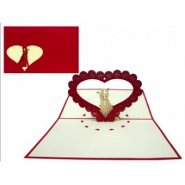Biglietti Origami INNAMORATI conf.6pz