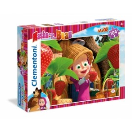 Giochi PUZZLE - 104 MAXI - MASHA AND THE BEAR