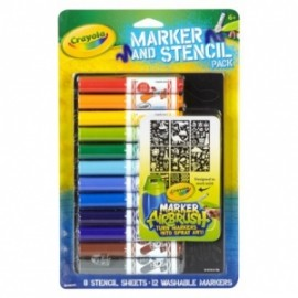 Crayola - RICARICA COLOR SPRAY C/STENCIL BOY