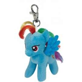 Peluche MY LITTLE PONY - RAINBOW DASH CLIP 12cm
