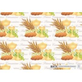 Carta Regalo 70x100cm COMUNIONE conf.10fg