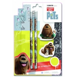 PETS - BLISTER CANCELLERIA 2 MATITE/ 2 GOMME