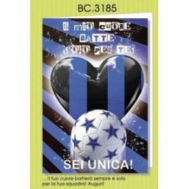 Biglietti Compleanno Calcio TIFOSI NEROAZZURRI conf. 6pz