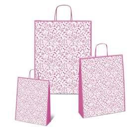Shopper Carta 36x46x12 FIORELLINI ROSA conf.10pz