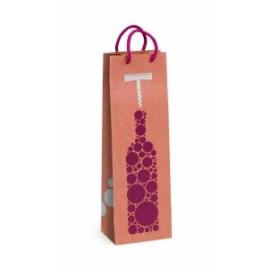 Shopper Carta 12x37x9 f.to Bottiglia FANTASIA conf.10pz