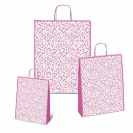 Shopper Carta 16x8x21 FIORELLINI ROSA conf.10pz