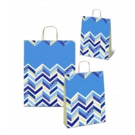 Shopper Carta 16x8x21 FANTASIA BLU conf.10pz