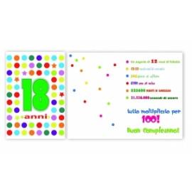 Biglietti Compleanno 18 ANNI conf.6pz