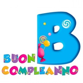 Party FESTONE BUON COMPLEANNO CANDY 3mt