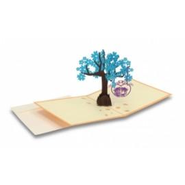Biglietti Origami ALBERO C/ALTALENA